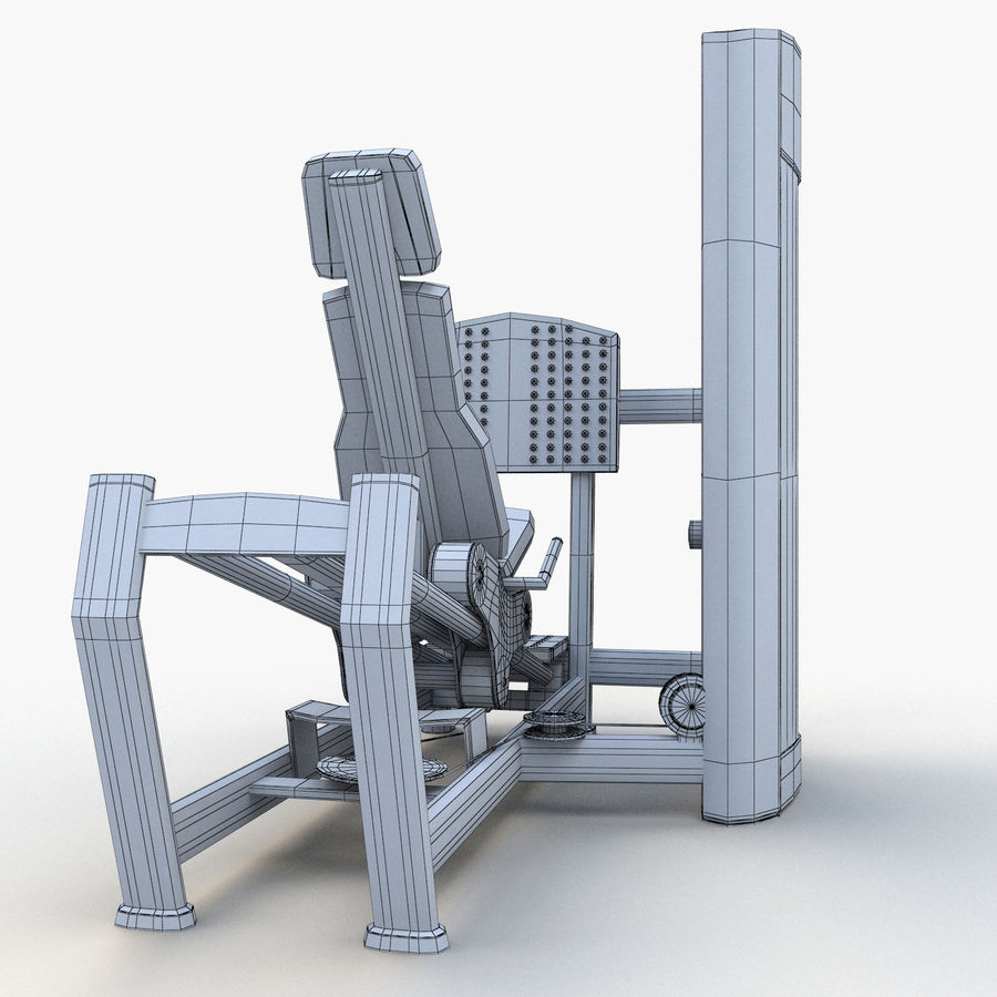 Seated Leg Press royalty-free 3d model - Preview no. 13