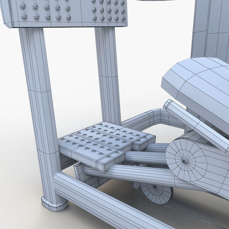 Seated Leg Press royalty-free 3d model - Preview no. 17