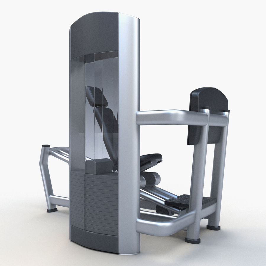 Seated Leg Press royalty-free 3d model - Preview no. 6