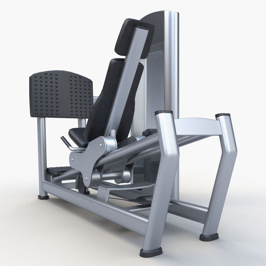 Seated Leg Press royalty-free 3d model - Preview no. 3