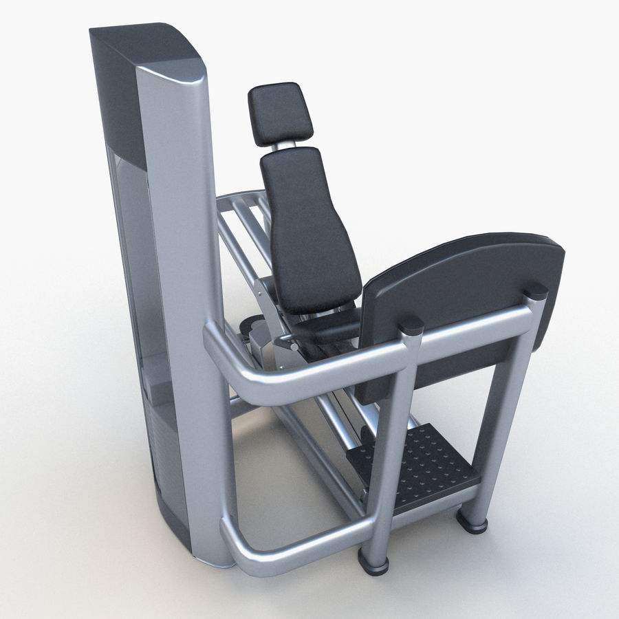 Seated Leg Press royalty-free 3d model - Preview no. 7