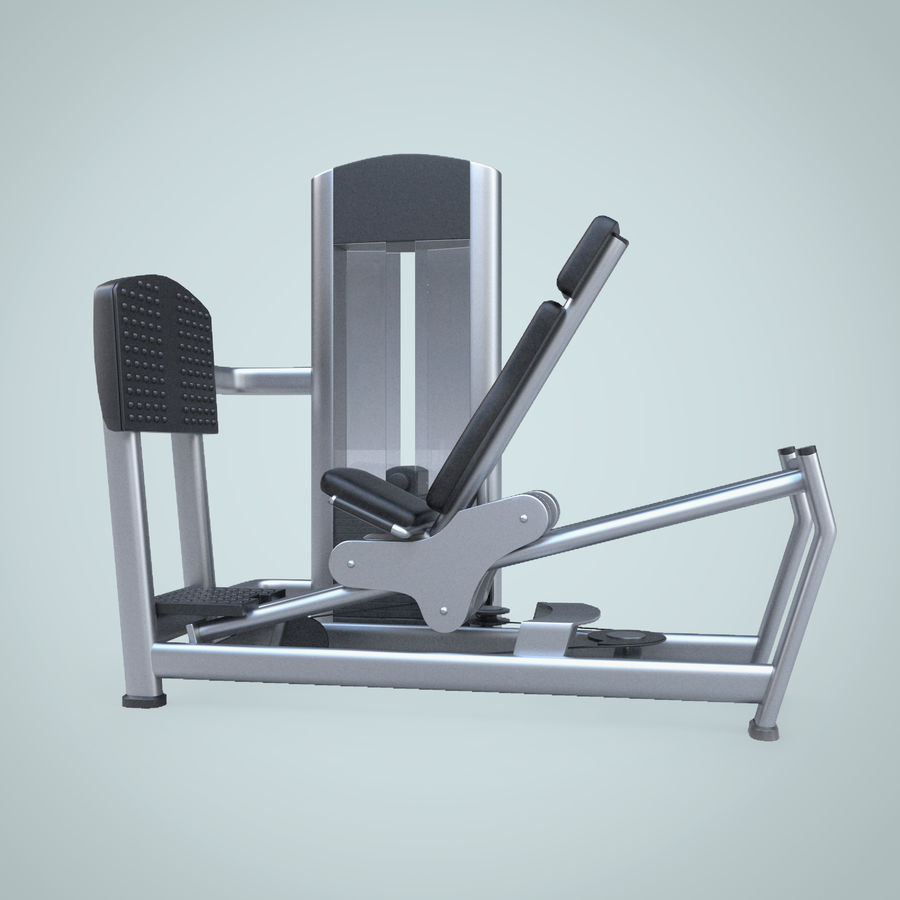 Seated Leg Press royalty-free 3d model - Preview no. 2