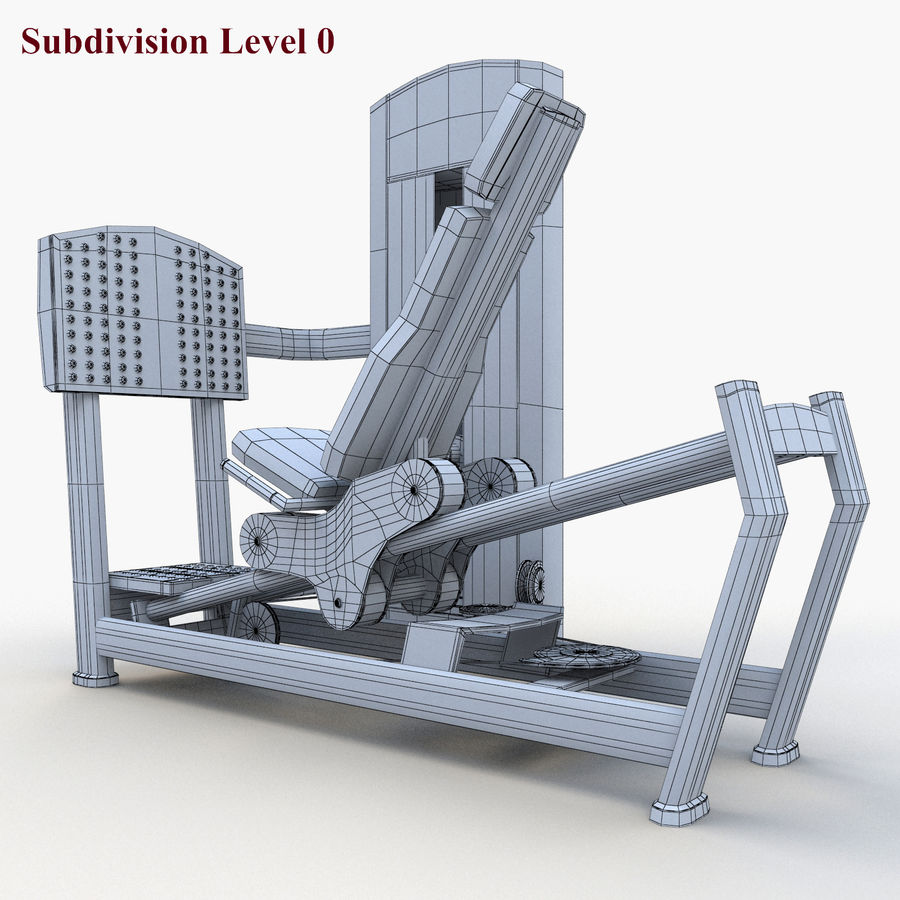 Seated Leg Press royalty-free 3d model - Preview no. 11