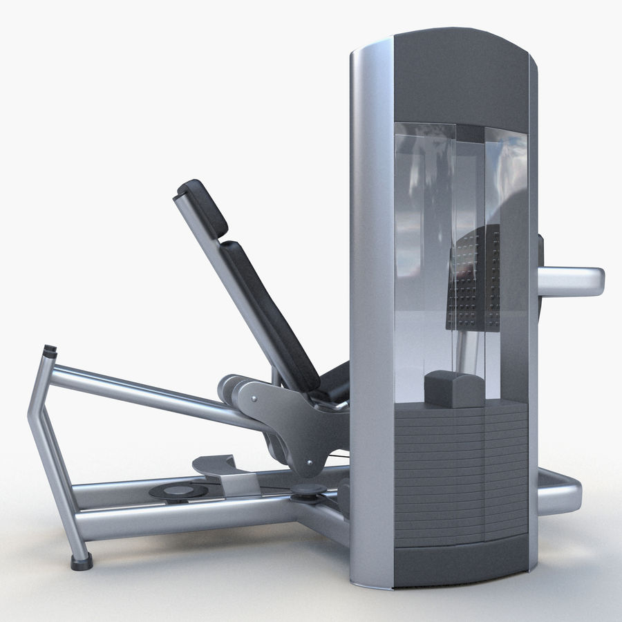 Seated Leg Press royalty-free 3d model - Preview no. 5