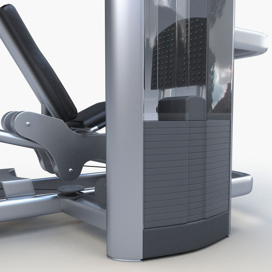 Seated Leg Press royalty-free 3d model - Preview no. 10
