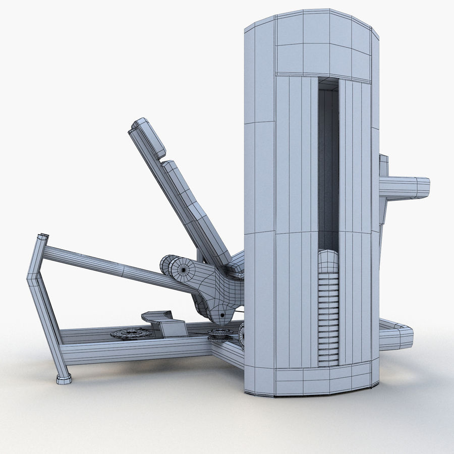 Seated Leg Press royalty-free 3d model - Preview no. 14