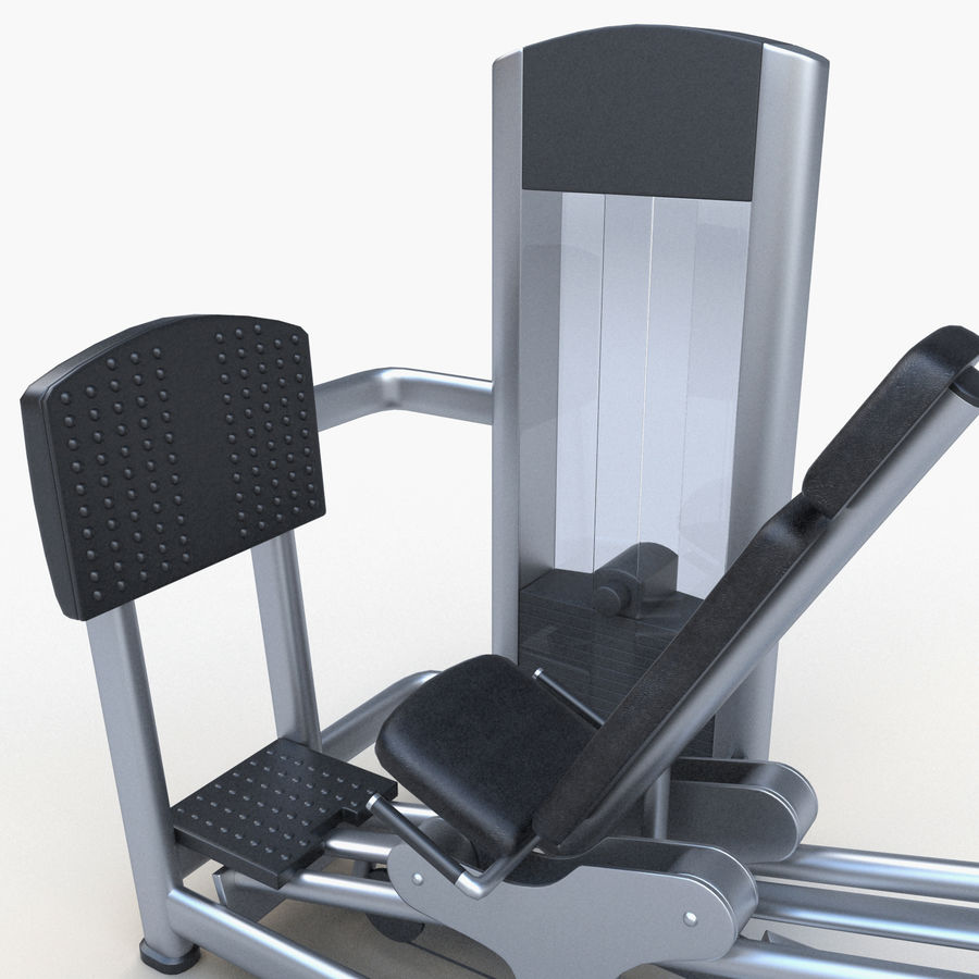 Seated Leg Press royalty-free 3d model - Preview no. 9