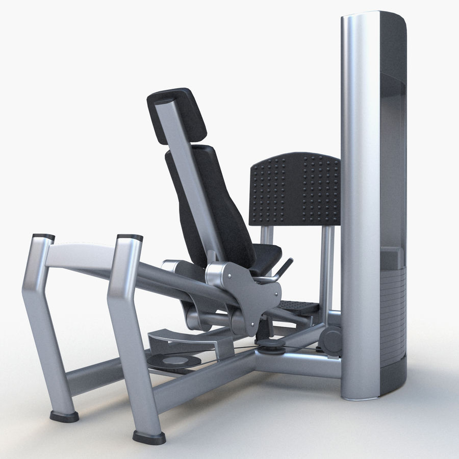 Seated Leg Press royalty-free 3d model - Preview no. 4
