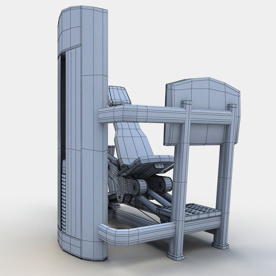 Seated Leg Press royalty-free 3d model - Preview no. 15
