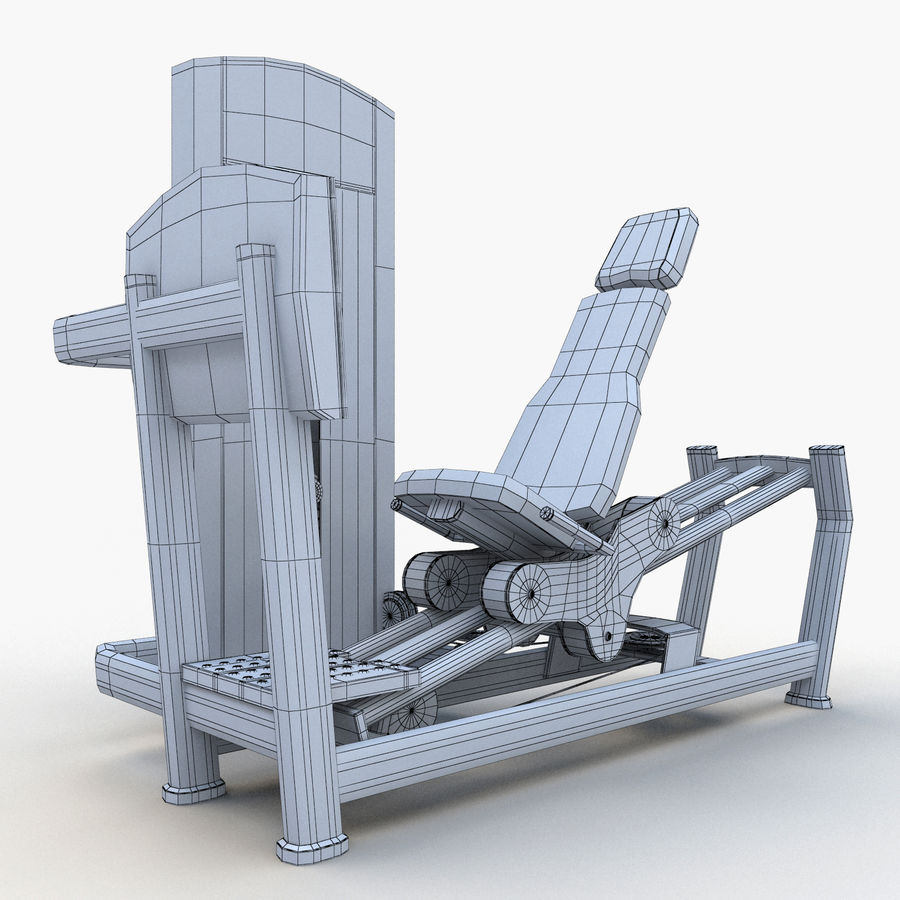 Seated Leg Press royalty-free 3d model - Preview no. 16