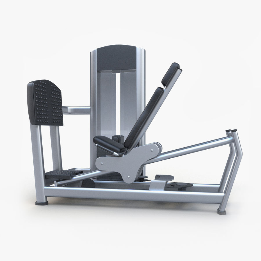 Seated Leg Press royalty-free 3d model - Preview no. 1