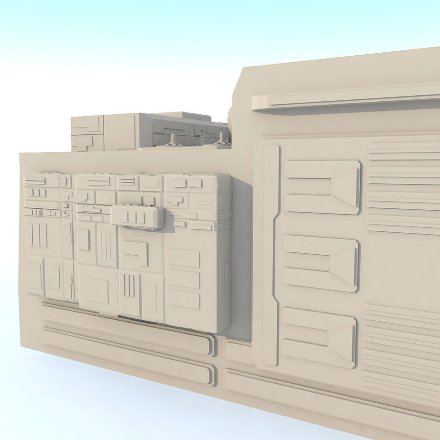 Sci fi Building - F royalty-free 3d model - Preview no. 9