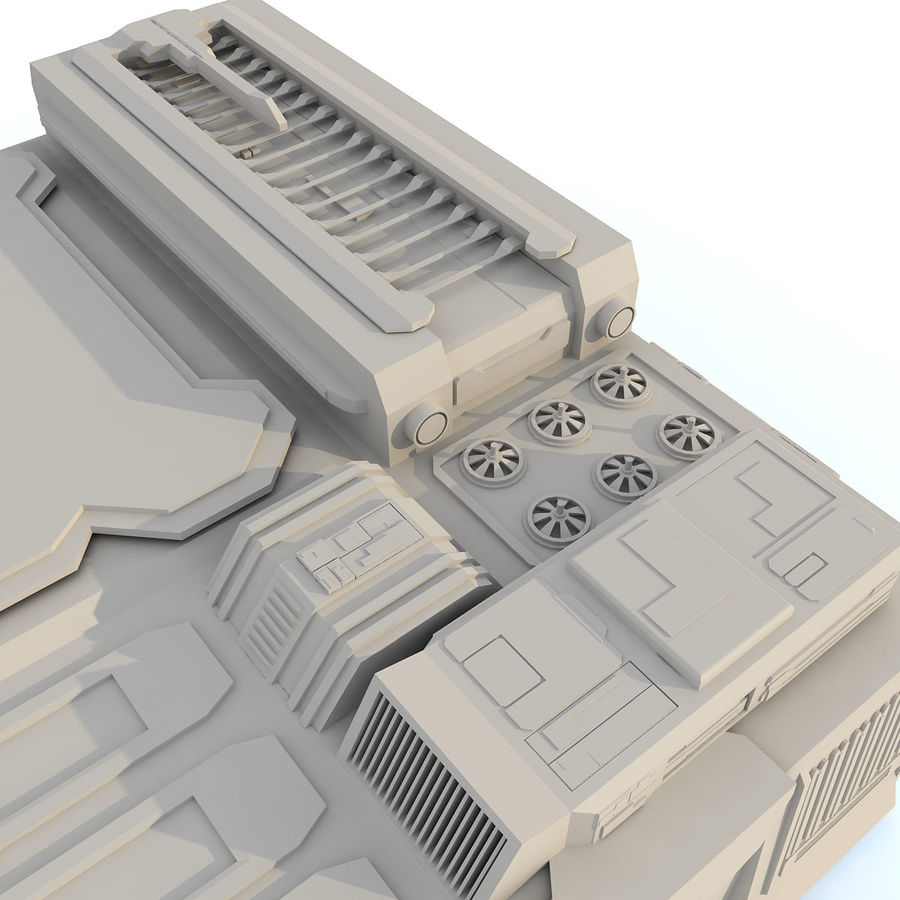 Sci fi Building - F royalty-free 3d model - Preview no. 10