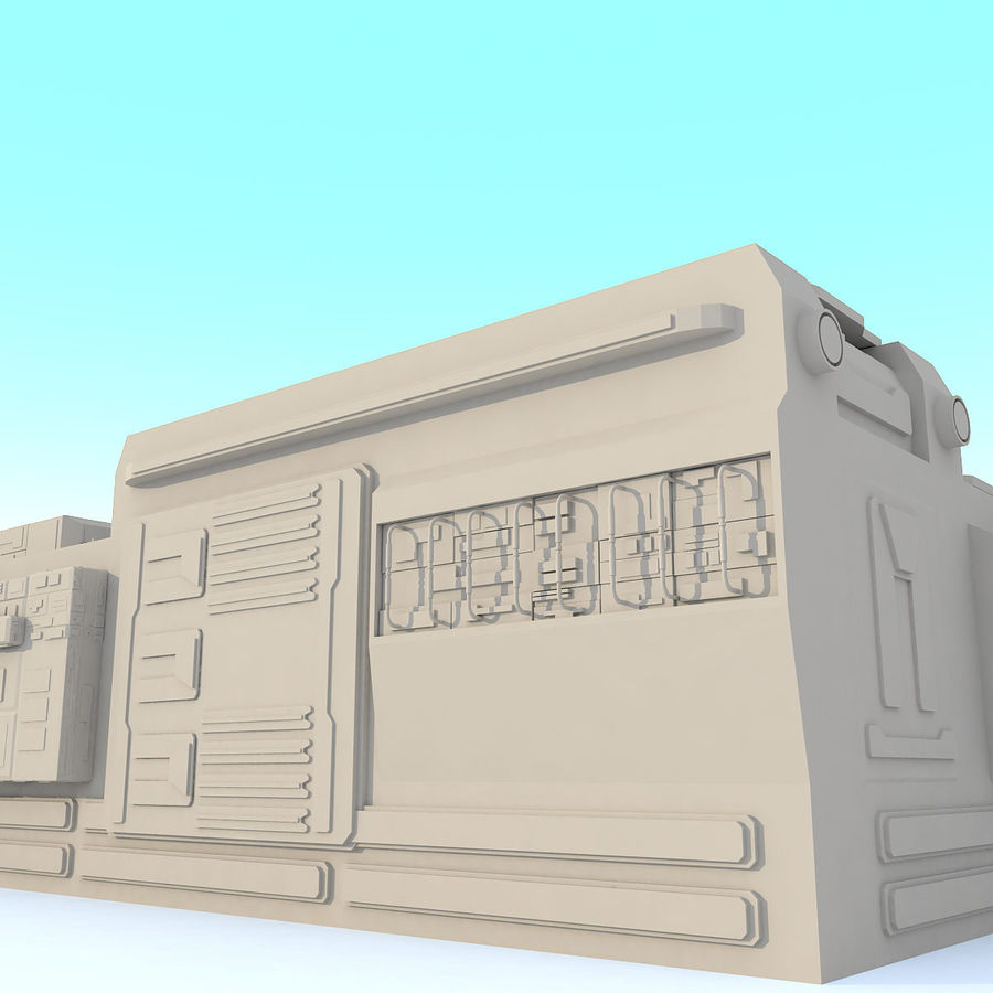 Sci fi Building - F royalty-free 3d model - Preview no. 8