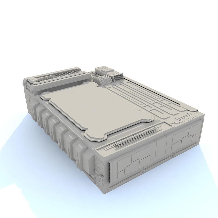 Sci fi Building - F royalty-free 3d model - Preview no. 4