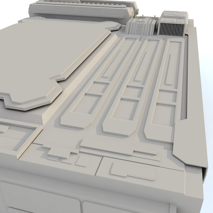 Sci fi Building - F royalty-free 3d model - Preview no. 11