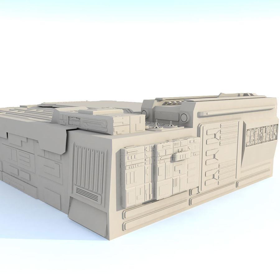 Sci fi Building - F royalty-free 3d model - Preview no. 5
