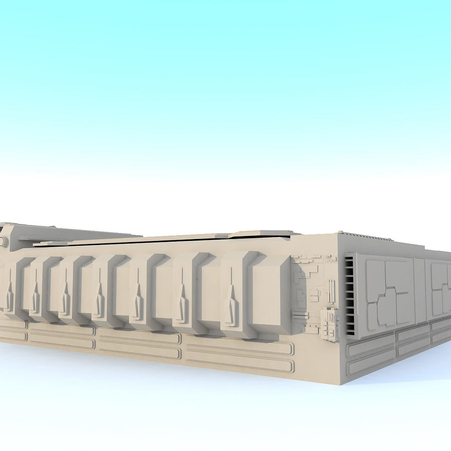 Sci fi Building - F royalty-free 3d model - Preview no. 7