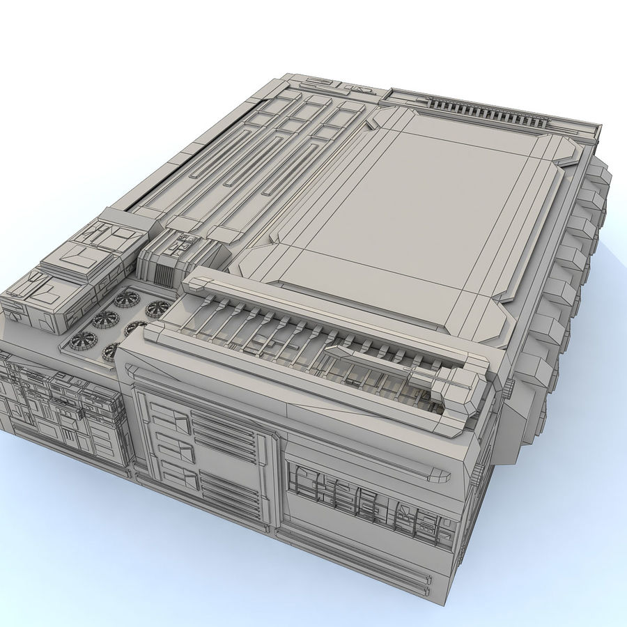 Sci fi Building - F royalty-free 3d model - Preview no. 1