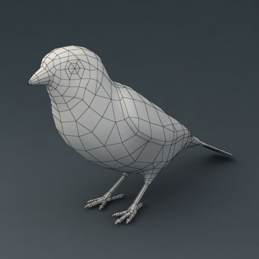 Sparrow Animated royalty-free 3d model - Preview no. 7