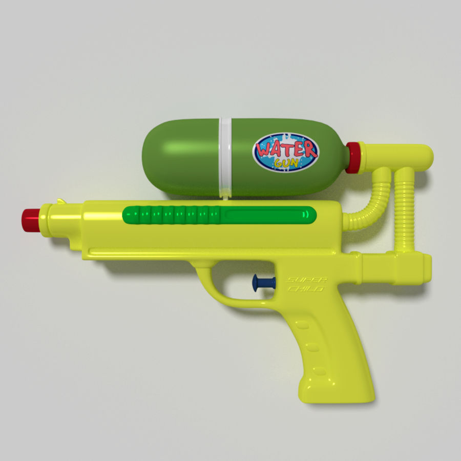 Water pistol royalty-free 3d model - Preview no. 1