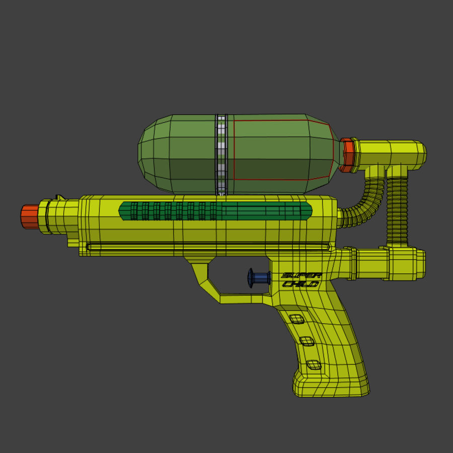 Water pistol royalty-free 3d model - Preview no. 5