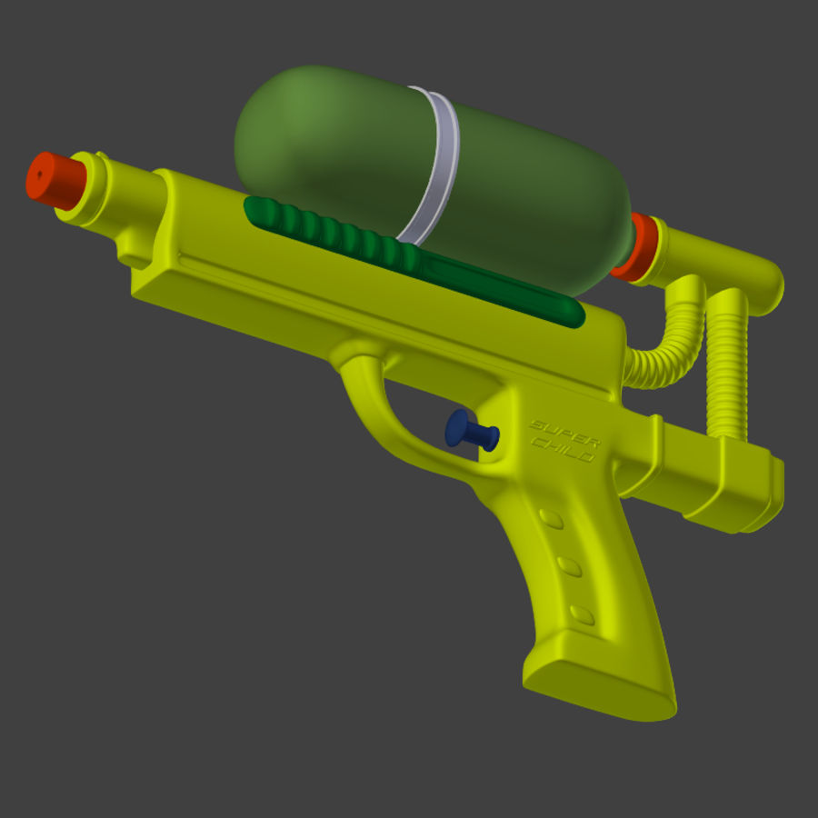 Water pistol royalty-free 3d model - Preview no. 8