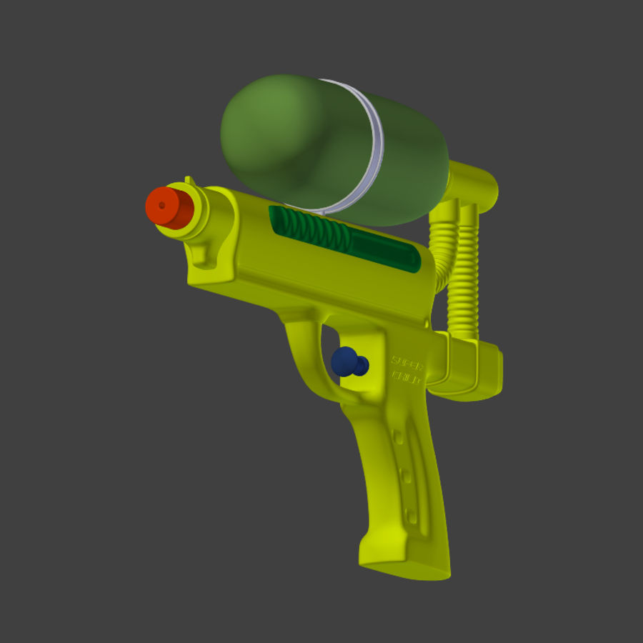 Water pistol royalty-free 3d model - Preview no. 7