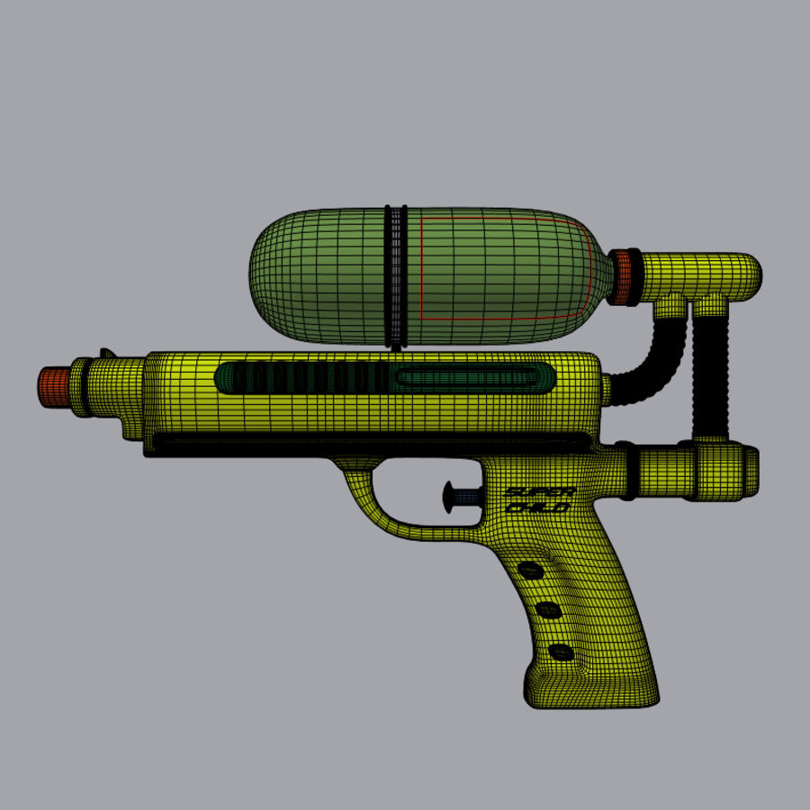 Water pistol royalty-free 3d model - Preview no. 3