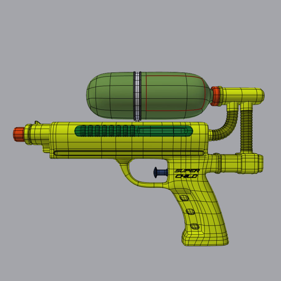 Water pistol royalty-free 3d model - Preview no. 2