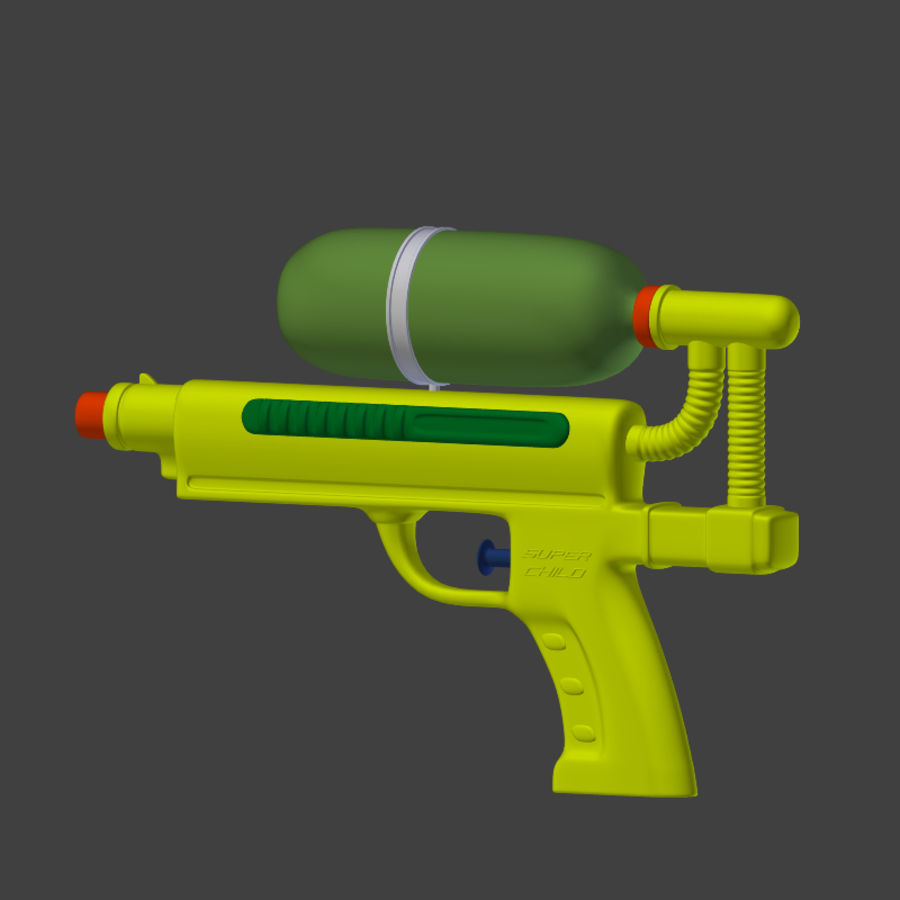 Water pistol royalty-free 3d model - Preview no. 6