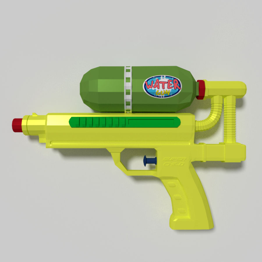 Water pistol royalty-free 3d model - Preview no. 4