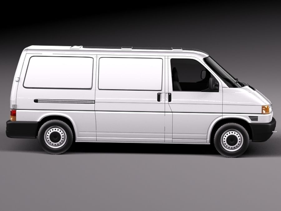 Volkswagen T4 Van 1990-2003 royalty-free 3d model - Preview no. 7