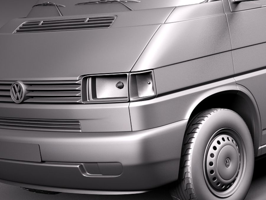 Volkswagen T4 Van 1990-2003 royalty-free 3d model - Preview no. 10