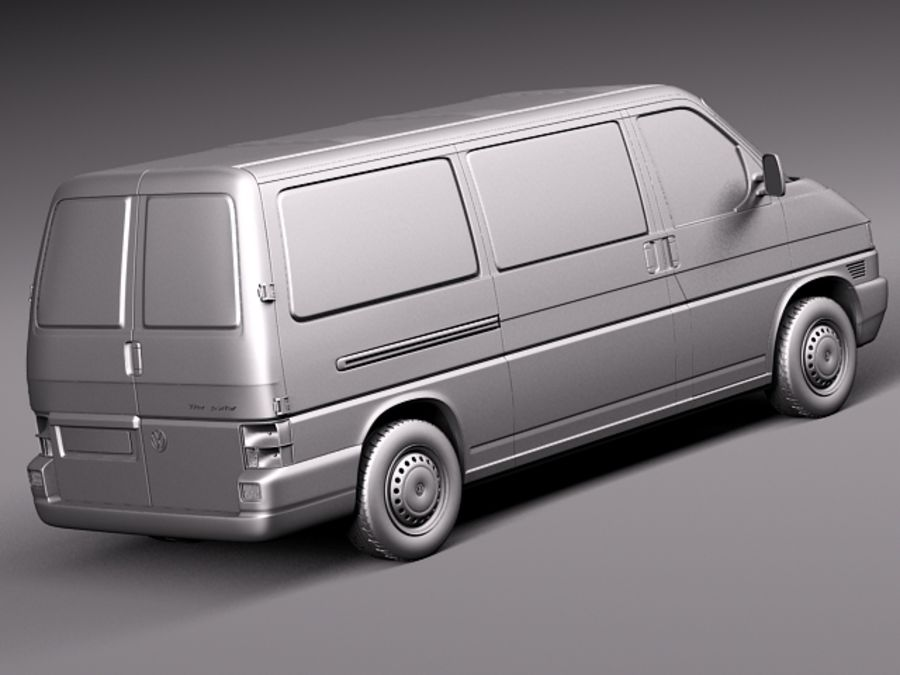 Volkswagen T4 Van 1990-2003 royalty-free 3d model - Preview no. 12