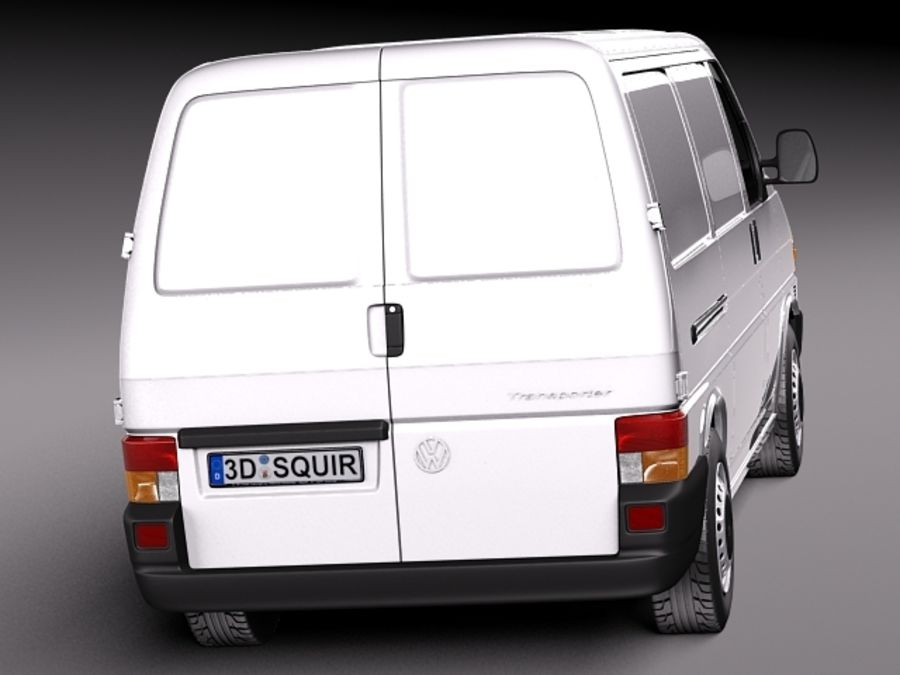 Volkswagen T4 Van 1990-2003 royalty-free 3d model - Preview no. 6