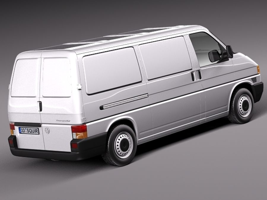 Volkswagen T4 Van 1990-2003 royalty-free 3d model - Preview no. 5