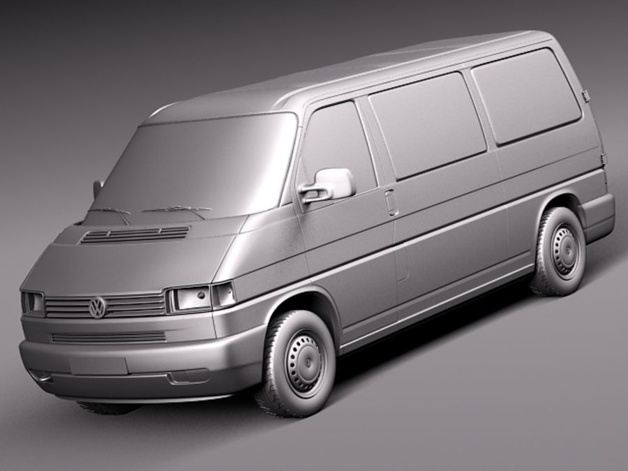 Volkswagen T4 Van 1990-2003 royalty-free 3d model - Preview no. 9