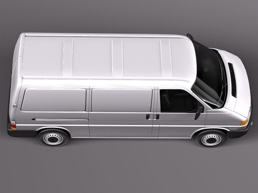 Volkswagen T4 Van 1990-2003 royalty-free 3d model - Preview no. 8