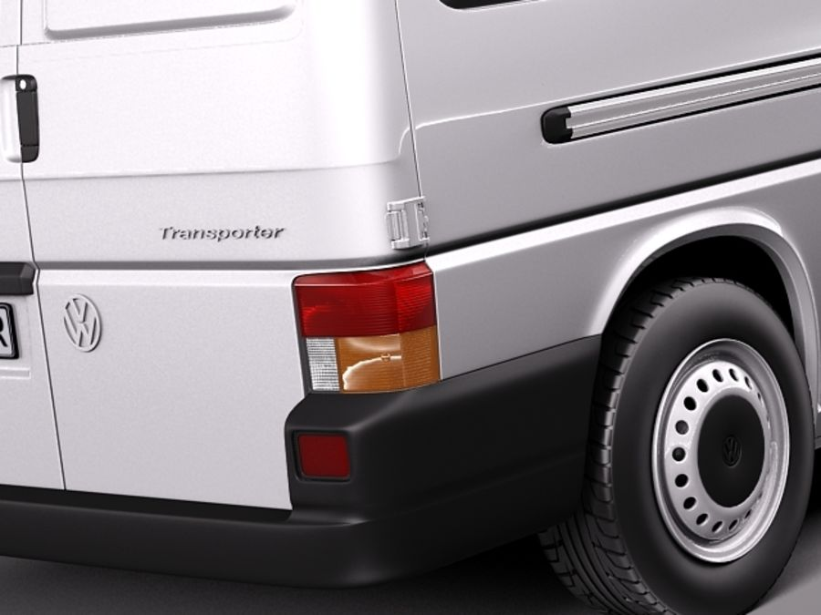 Volkswagen T4 Van 1990-2003 royalty-free 3d model - Preview no. 4