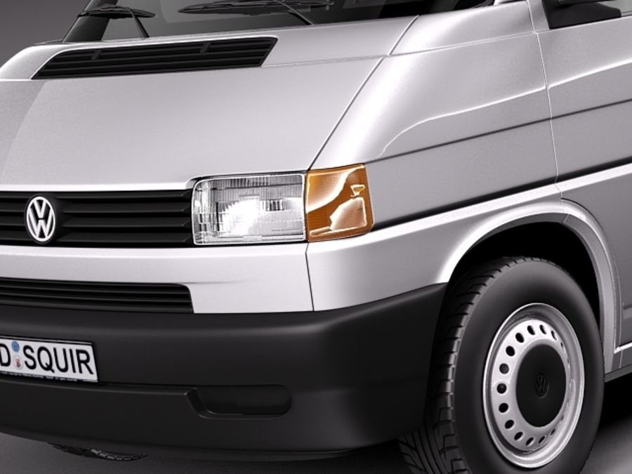 Volkswagen T4 Van 1990-2003 royalty-free 3d model - Preview no. 3