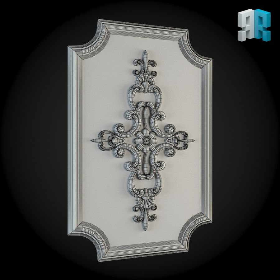 Wall 009 royalty-free 3d model - Preview no. 3