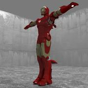 rigged iron man 3d model