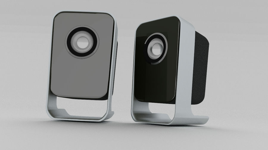 Desktop Speakers royalty-free 3d model - Preview no. 9