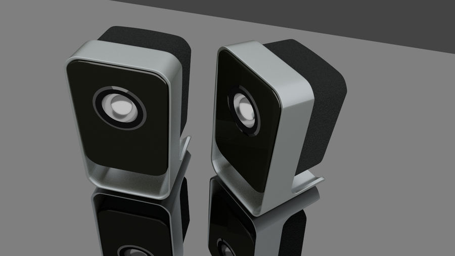 Desktop Speakers royalty-free 3d model - Preview no. 1