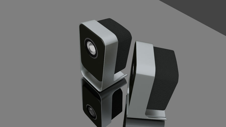 Desktop Speakers royalty-free 3d model - Preview no. 3
