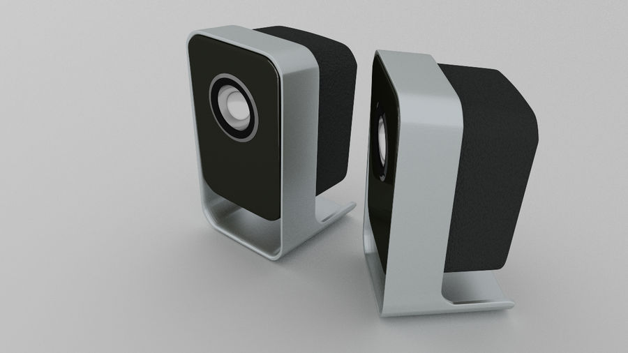 Desktop Speakers royalty-free 3d model - Preview no. 8