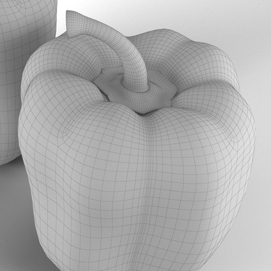 Green Pepper royalty-free 3d model - Preview no. 16