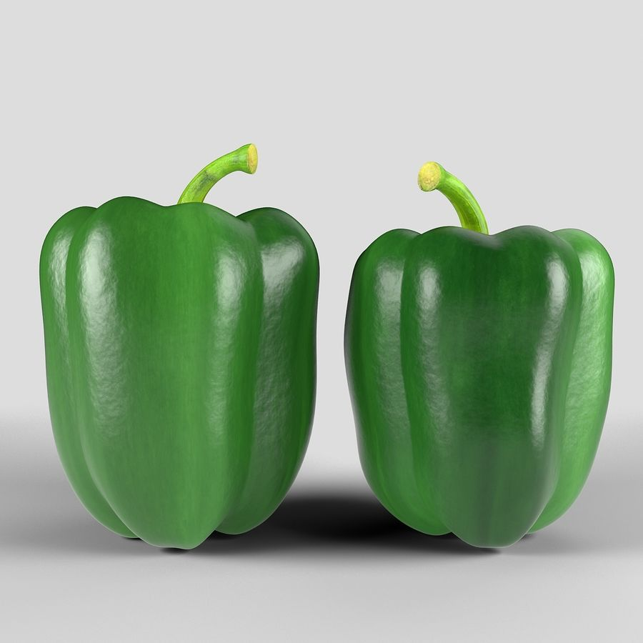 Green Pepper royalty-free 3d model - Preview no. 2