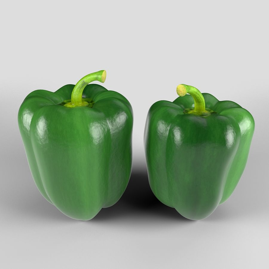 Green Pepper royalty-free 3d model - Preview no. 3